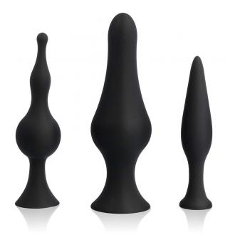 Spirit Training Anal Plugs Black