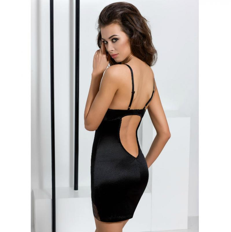 Passion Brida Chemise & Thong Black S/M