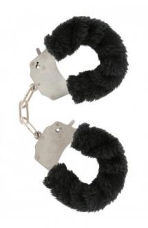 FURRY FUN CUFFS LECHEROUS BLACK - putá