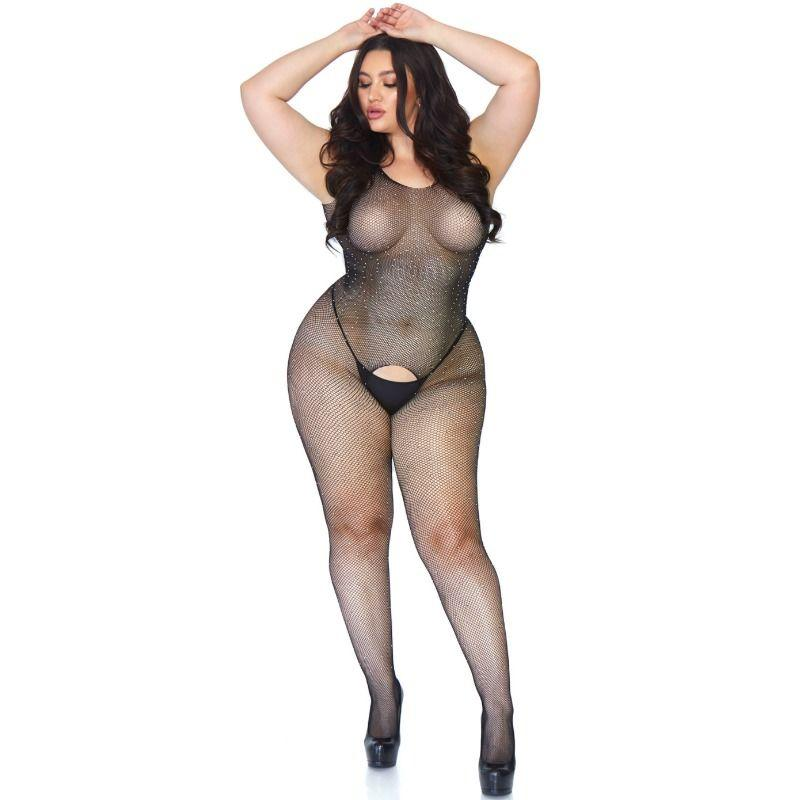Leg Avenue Crystalyzed Net Bodystocking 1x-2x