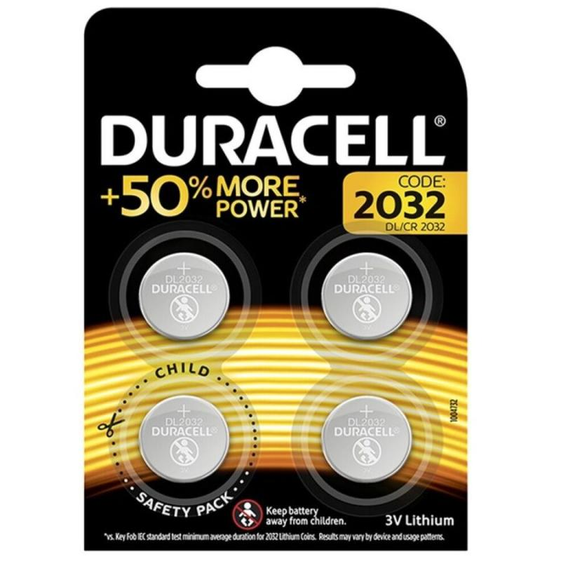 Duracell Batteryboton Litio Cr2032 3v  4 Units
