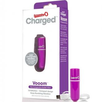 Screaming O Rechargeable Vibrating Bullet Vooom Purple