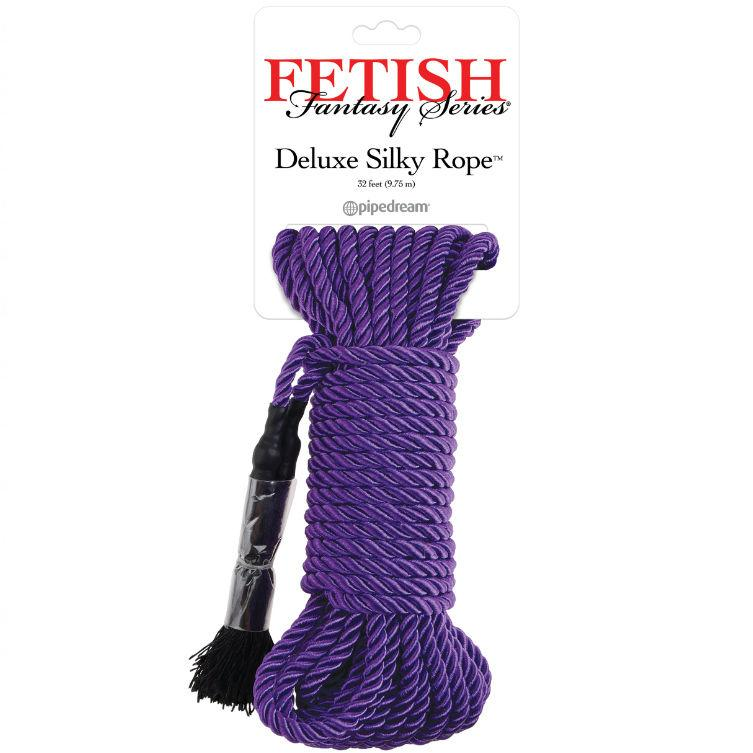FETISH FANTASY SERIES DELUXE SILK ROPE PURPLE - lano