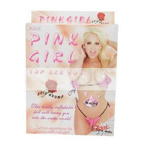 Mueca Hinchable. Pink Girl Love Doll