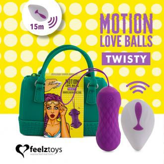 Feelztoys - Remote Controlled Motion Love Balls Twisty - vibračné vajíčko