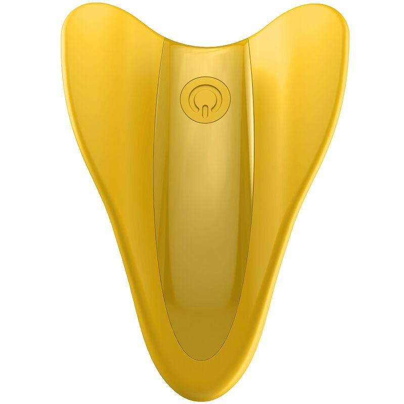 Satisfyer High Fly Finger Vibrator Yellow - Prstový Vibrátor