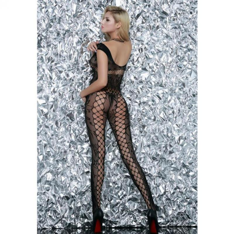 QUEEN LINGERIE - BODYSTOCKING CLEARS AND FLORAL MOTIFS