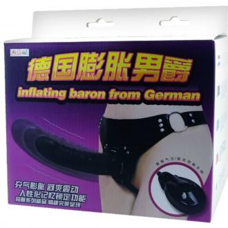 Baile Inflatable Vibrating Strap On With Automatic Pump Up.