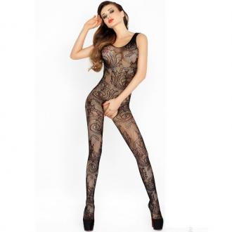 Passion Bs020 Bodystockings Čierna