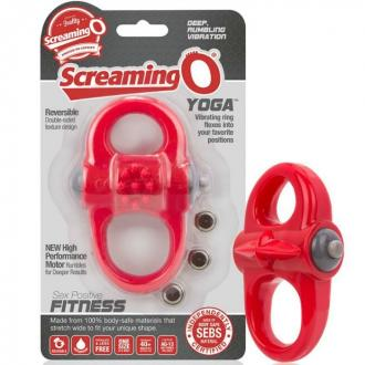 Screaming O Vibrating Ring Yoga Red