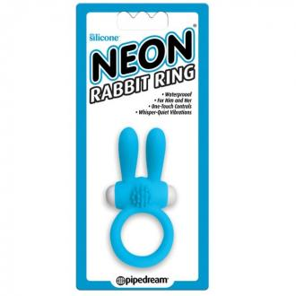 Neon Rabbit Ring - Blue