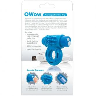 Screaming O Vibrating Rechargeable Ring O Wow Blue