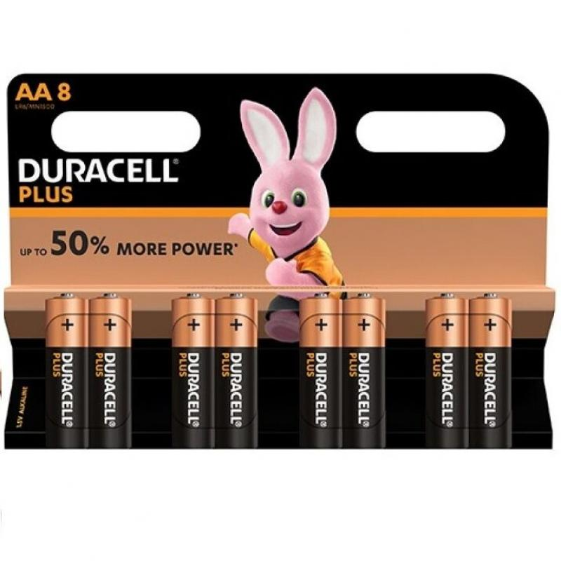 Duracell Plus Power Battery Aa Lr6  8units