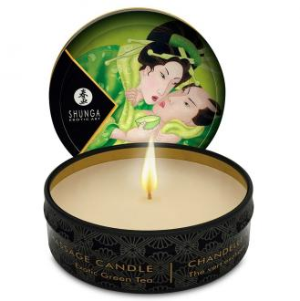 Mini Caress By Candlelight Massage Candle  Exotic Green Tea