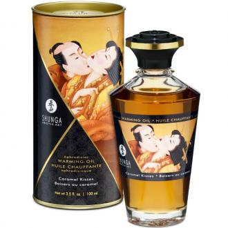 Shunga Aphrodisiac Warming Oil Caramel Kisses 100 Ml
