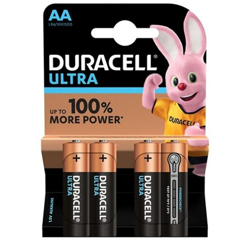 Duracell Ultra Power Battery  Aa Lr6  4units