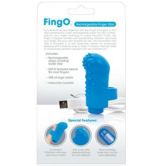 Screaming O Rechargeable Finger Vibe Fing O Blue