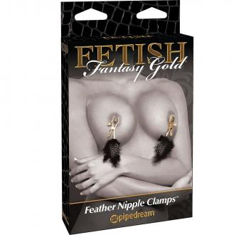 Fetish Fantasy Gold Deluxe Feather Clamps