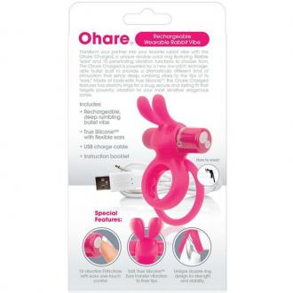 Screaming O Rechargeable Vibrating Ring With Rabbit - O Hare