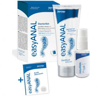 EASY ANAL STARTER SET  LUBRICANTE + RELAX SPRAY