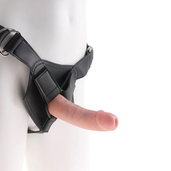 King Cock - Strap-On Harness With 6 Inch Cock Flesh