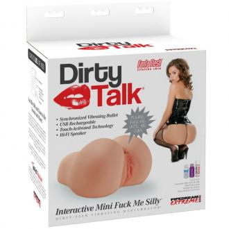 EXTREME TOYZ DIRTY TALK MINI TRASERO INTERACTIVO - masturbátor torzo