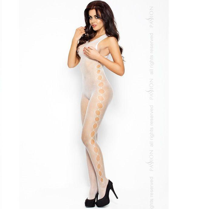 Passion BS003 bodystockings biela