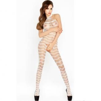 Passion BS022 bodystockings biela