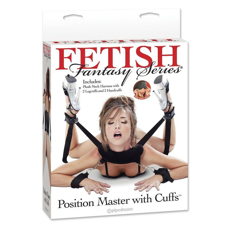 FETISH FANTASY POSITION MASTER WITH CUFFS - zväzovací set