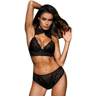 QUEEN LINGERIE SET 2 PIEZAS Black ONE SIZE