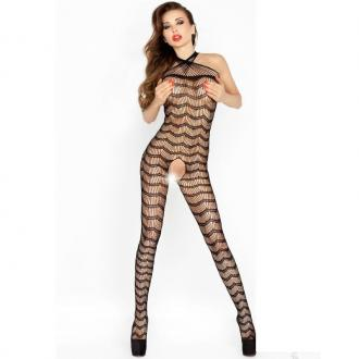 Passion Bs022 Bodystockings Čierna