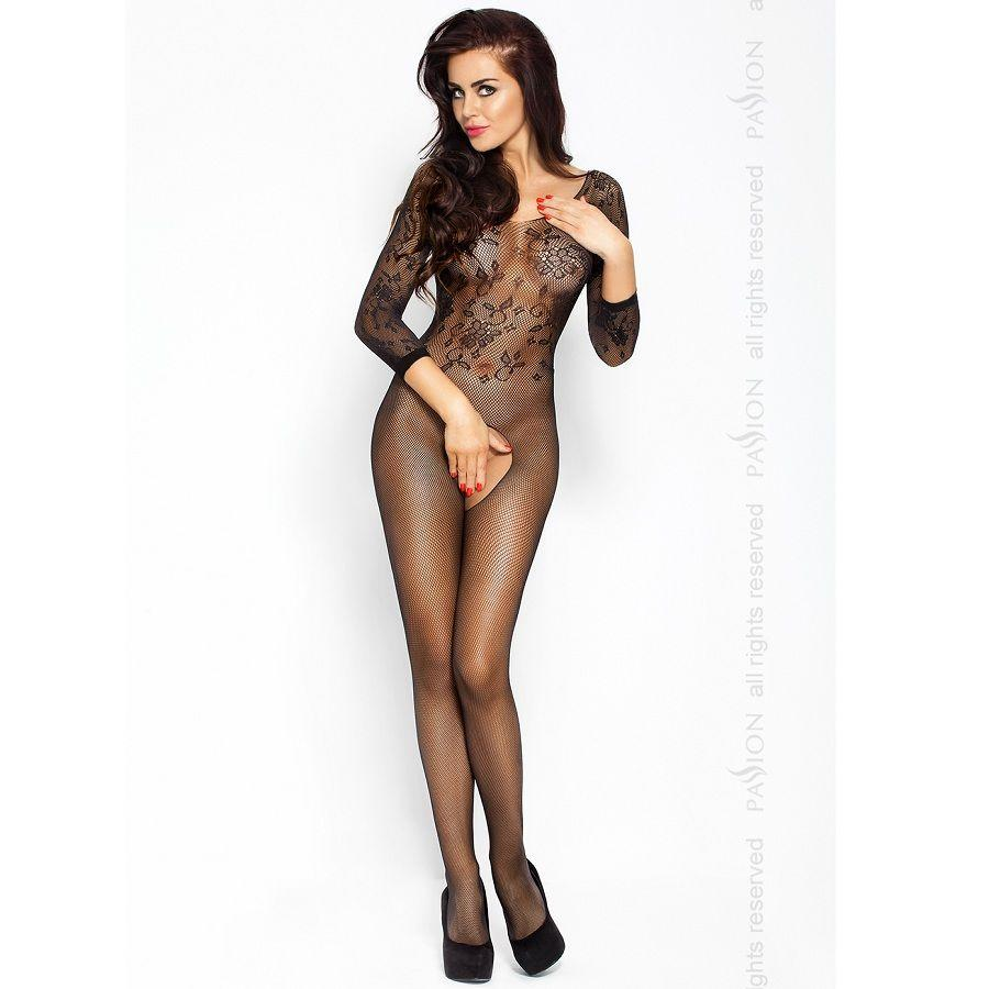 Passion BS007 bodystockings čierna