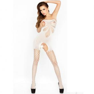 Passion Bs021 Bodystockings Biela
