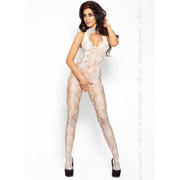 Passion BS009  bodystockings biela