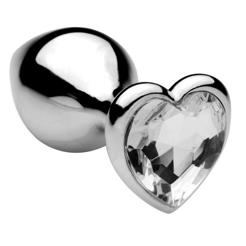 Toyz4lovers Plug Anale Heart Medium Clear - Análny Kolík