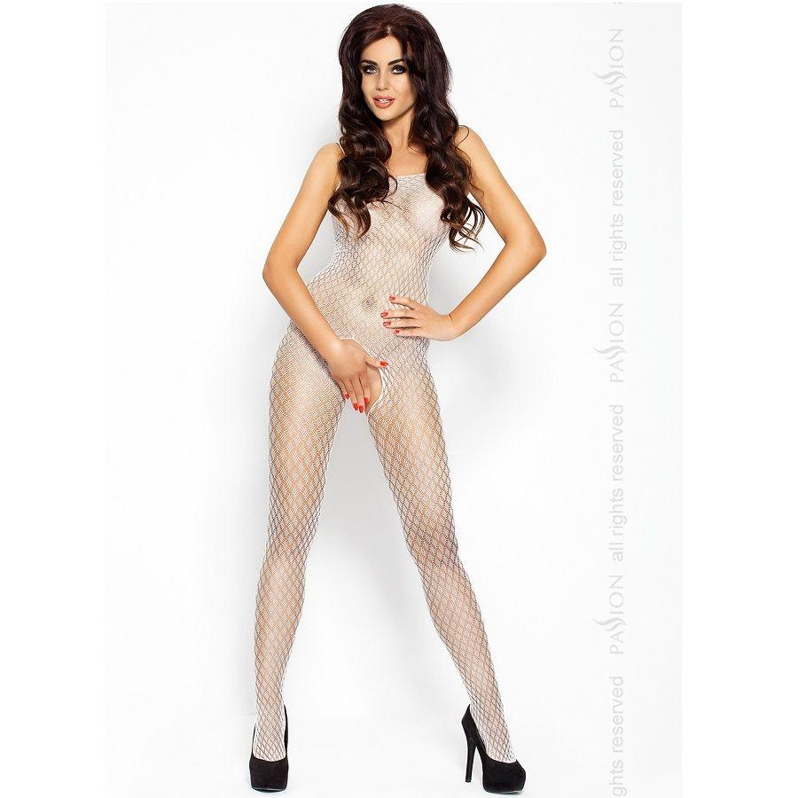 Passion BS010 bodystockings biela