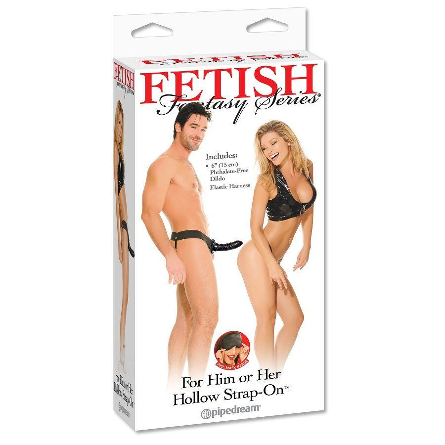 FETISH FANTASY DREAM  HOLLOW STRAP ON - pripínací penis