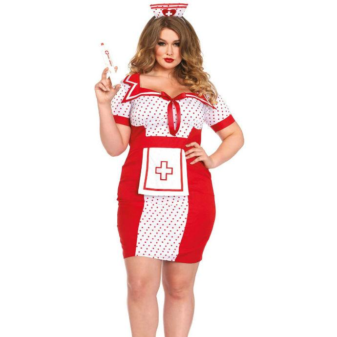 LEG AVENUE BEDSIDE BETTY PLUS SIZE 1X/2X - kostým sestričky